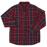 wine Boys Long Sleeve Check Shirt (3-13 years)
