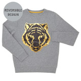 grey Boys Sequin Sweater (3-13 years)