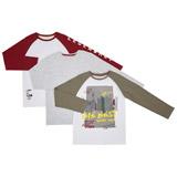 khakiBoys Long Sleeve Tops - Pack Of 3 (3-10 years)