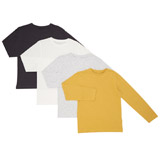 ochre Boys Long-Sleeved Tops - Pack Of 4 (3-13 years)
