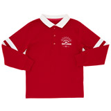red Boys Long Sleeve Cut And Sew Rugby Top (3-10 years)