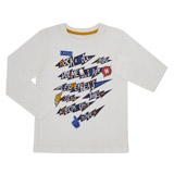 white Boys Long Sleeve Top (3-13 years)