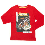 red Boys Long Sleeve Top (3-13 years)