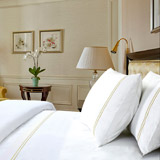 gold Francis Brennan the Collection Gold Double Stripe Flat Sheet