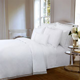 white Francis Brennan the Collection Lace Border Duvet Cover