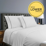 white Francis Brennan the Collection Pintuck Trellis Duvet Cover