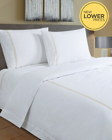 Francis Brennan the Collection Gold Braid Detail Duvet Cover