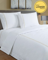 gold Francis Brennan the Collection Gold Braid Detail Duvet Cover