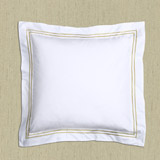 gold Francis Brennan the Collection Gold Stripe Euro Pillowcase