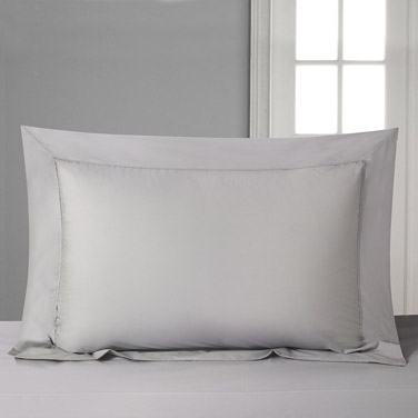 Francis Brennan the Collection Grey Oxford Pillowcase