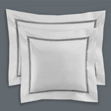 white Francis Brennan the Collection Pintuck Trellis Euro Pillowcase
