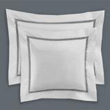 whiteFrancis Brennan the Collection Pintuck Trellis Euro Pillowcase