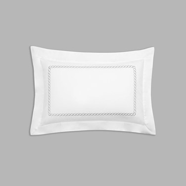 greyFrancis Brennan the Collection Grey Braid Detail Oxford Pillowcase