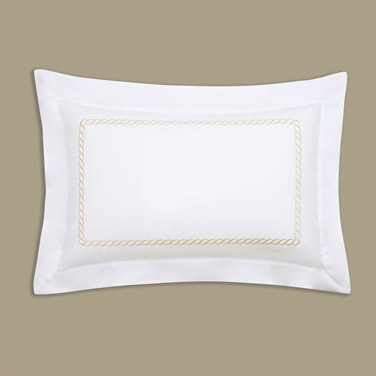 Francis Brennan the Collection Gold Braid Detail Oxford Pillowcase
