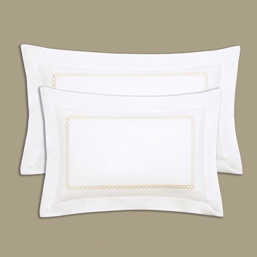 Francis Brennan the Collection Gold Braid Detail King Oxford Pillowcase
