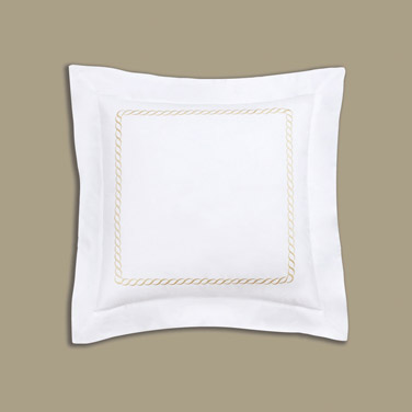Francis Brennan the Collection Gold Braid Detail Euro Pillowcase