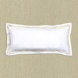 gold Francis Brennan the Collection Gold Stripe Boudoir Cushion