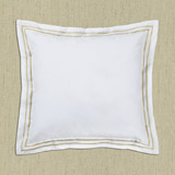gold Francis Brennan the Collection Gold Stripe Cushion