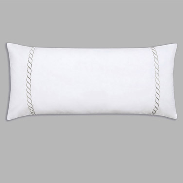 Francis Brennan the Collection Grey Braid Detail Bolster Cushion