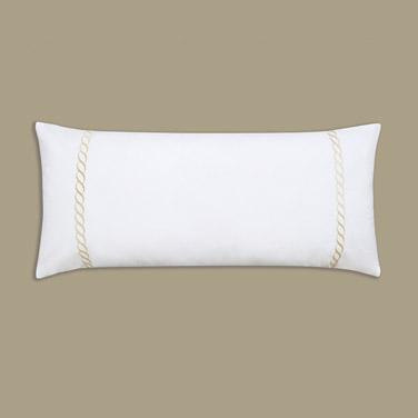 Francis Brennan the Collection Gold Braid Detail Bolster Cushion