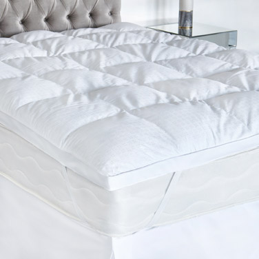 whiteFrancis Brennan the Collection Duck Down and Feather Mattress Topper