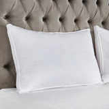 white Francis Brennan the Collection Luxury Microfibre Pillow