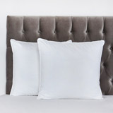 white Francis Brennan the Collection Euro Luxury Square Pillow
