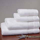 white Francis Brennan the Collection Lace Design Towel