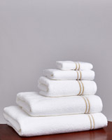 gold Francis Brennan the Collection Gold Double Stripe Towel