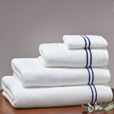 navy Francis Brennan the Collection Navy Stripe Towel