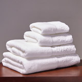 white Francis Brennan the Collection Fleur Towel