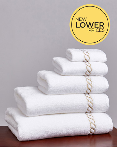 Francis Brennan the Collection Gold Braid Towel