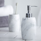 light-grey Francis Brennan the Collection Italian Marble Soap Dispenser
