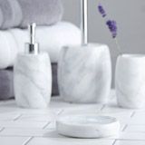 light-grey Francis Brennan the Collection Italian Marble Soap Dish