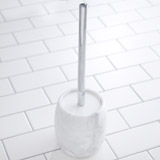 light-grey Francis Brennan the Collection Italian Marble Toilet Brush