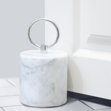 light-grey Francis Brennan the Collection Italian Marble Door Stop