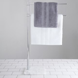 light-grey Francis Brennan the Collection Italian Marble Towel Rail
