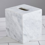 light-grey Francis Brennan the Collection Italian Marble Tissue Box Holder