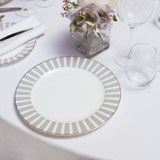 light-grey Francis Brennan the Collection Stripe Bone China Dinner Plate