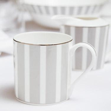 light-greyFrancis Brennan the Collection Stripe Bone China Coffee Mug