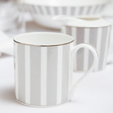 light-grey Francis Brennan the Collection Stripe Bone China Coffee Mug