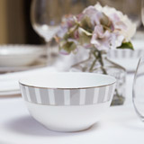 light-grey Francis Brennan the Collection Stripe Bone China Cereal Bowl