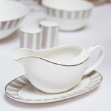 light-grey Francis Brennan the Collection Bone China Gravy Boat And Saucer Set