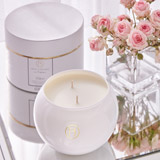 white Francis Brennan the Collection Éthéré Boxed Two Wick Candle