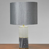 grey Francis Brennan the Collection Marble Lamp