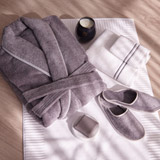 grey Francis Brennan the Collection Luxury Terry Hotel Robe