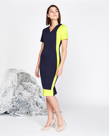 multi Lennon Courtney at Dunnes Stores Neon Contrast Dress