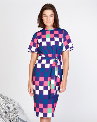22e953c7eb multi Lennon Courtney at Dunnes Stores Printed A-Line Dress