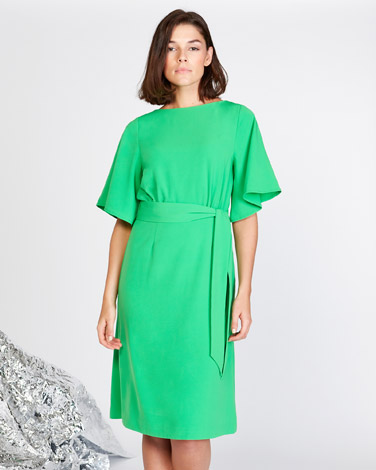 7480e326db7 green Lennon Courtney at Dunnes Stores Green A-Line Dress