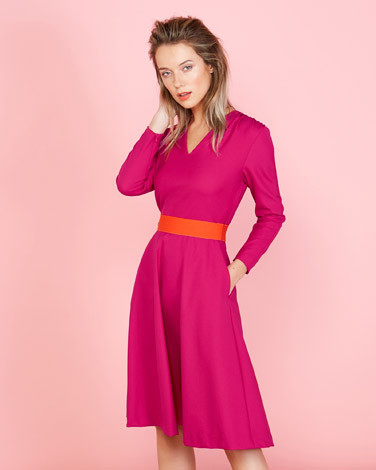 b61f110a15b burgundy Lennon Courtney at Dunnes Stores Fit And Flare Dress